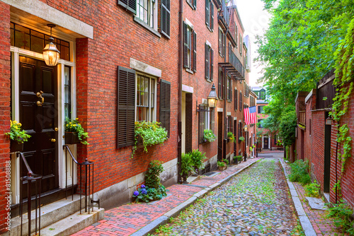 acorn-street-beacon-hill-brukowiec-boston