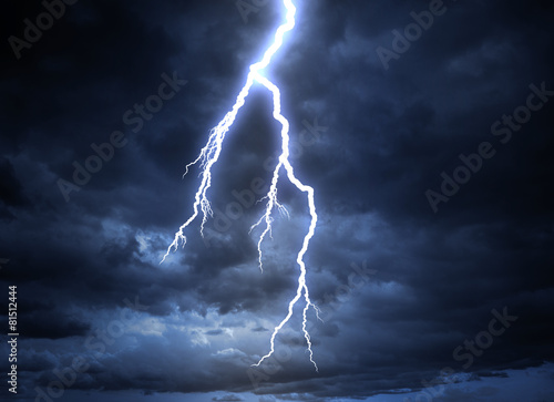 Fotografie, Obraz  Lightning strike