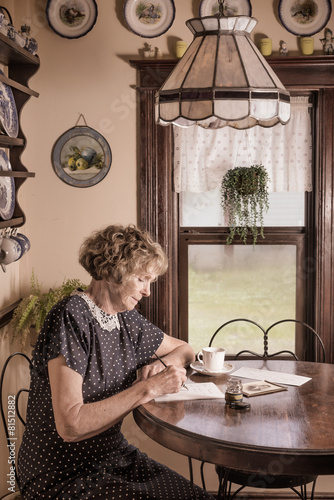 Fotografia  Writing a letter from yesteryear