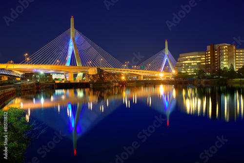 boston-zakim-mosta-zmierzch-w-massa