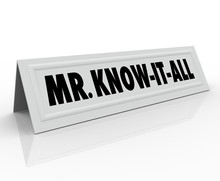 Mr Know-It-All Words Name Tent Card Expert Knowledge Smart Guest