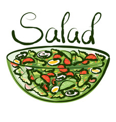 FototapetaVector Green Salad