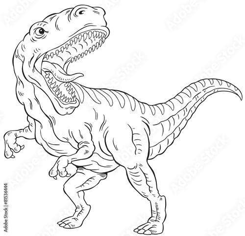T Rex Dinosaur Outline Kaufen Sie Diese Vektorgrafik Und Finden