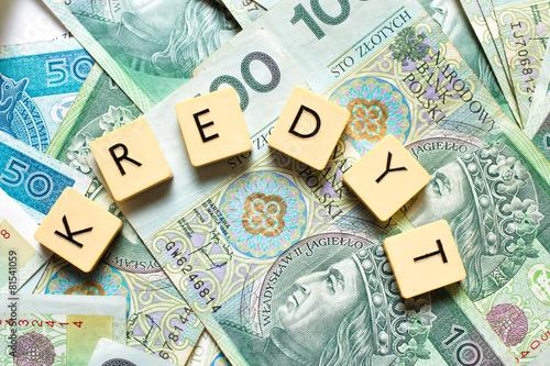 Obraz na płótnie Kredyt - pożyczka - pieniądze - kapitał