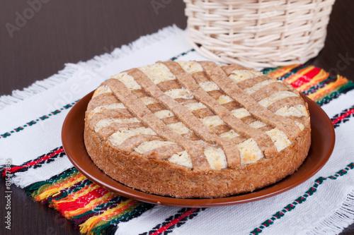 Valokuva  apple pie with cheese cream