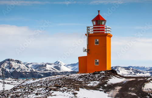 Cadres-photo bureau Scandinavie Yellow Lighthouse