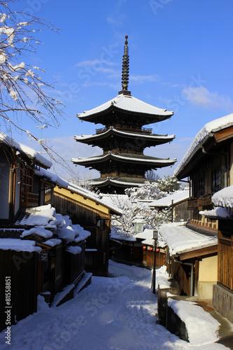 Foto op Canvas Kyoto 雪の京都