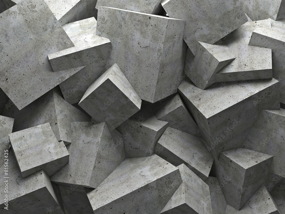 Fototapety, obrazy: cubes wall
