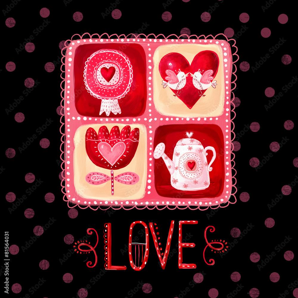 Gamesageddon Stock Love Greeting Card Save The Date Background Vintage Background Valentine Background Love Heart Design Valentine Day Card I Love You Card Love Card With Red Flowers Red Heart And