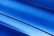 canvas print picture - Surface of blue sport sedan car metal hood; vehicle bodywork