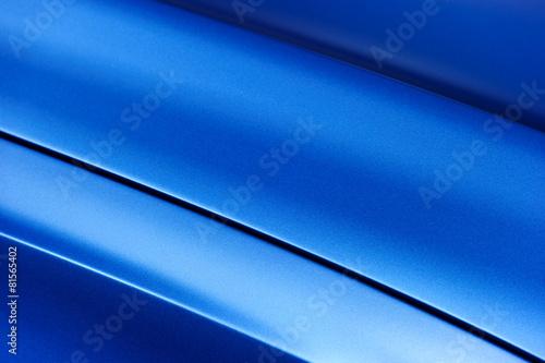 Photo Surface of blue sport sedan car metal hood; vehicle bodywork