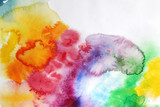 Watercolor splashes background - 81569092