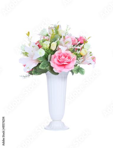 Pink Flowers In A Vase Kaufen Sie Dieses Foto Und Finden Sie