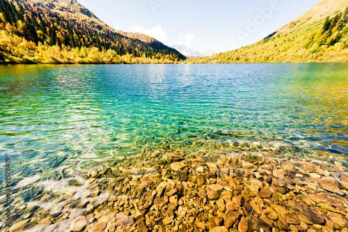 Mountain lake Kardyvach, Caucasus