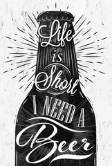 Fototapeta samoprzylepna Poster vintage beer