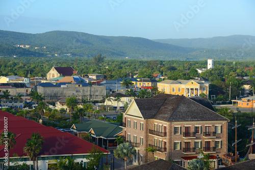 Fotografie, Obraz  Falmouth CourtHouse and Church, Jamaica