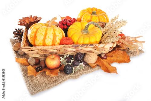 Canvas Prints Autumn Erntedankfest mit Jutesack