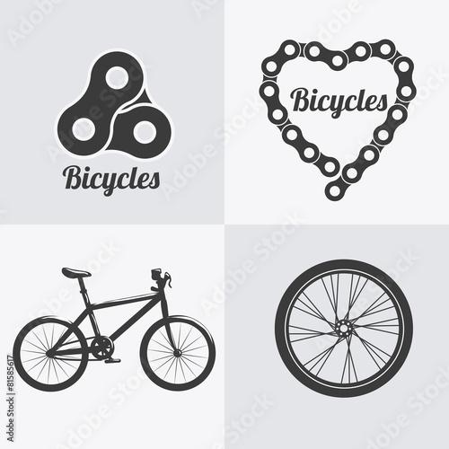 obraz dibond Projekt rowerów.