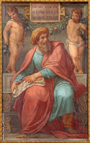 Photo  Rome - prophet Ezekiel fresco in Basilica di Sant Agostino