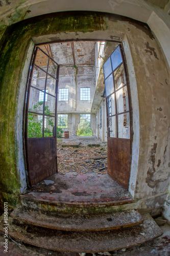 Cadres-photo bureau Ancien hôpital Beelitz Abandoned Old Ruined Industrial Plant
