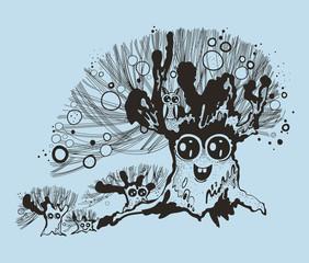 Illustration of fancy tree.