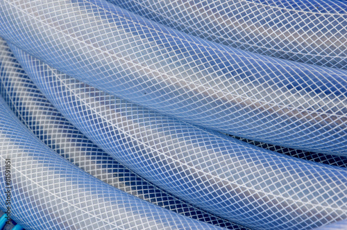 Fotografie, Obraz  blue plastic hose background