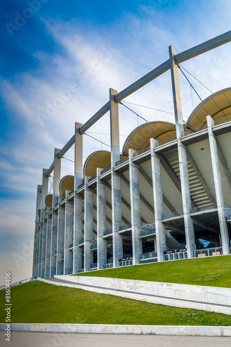 Photo  The modern building of National Arena in Bucharest Romania