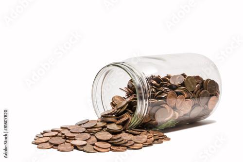 Fotomural Spilled Penny Jar