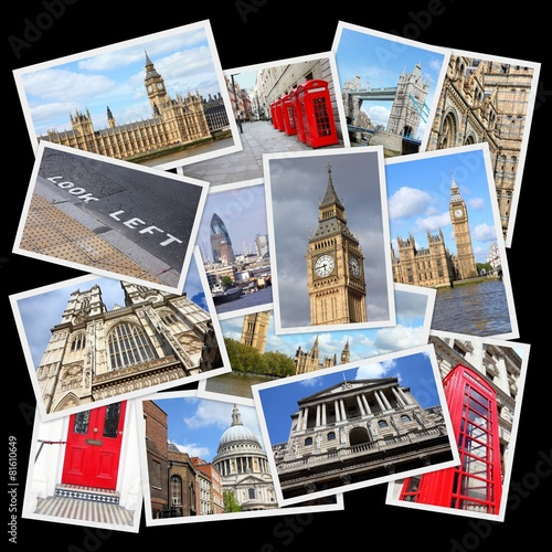 London, UK - travel collage - 81610649