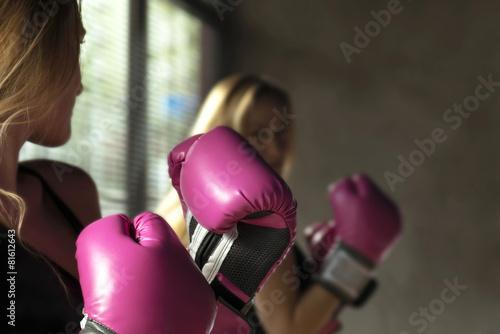 Láminas  Mujer del boxeo