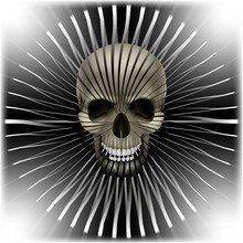 Background With Skull And Circ...