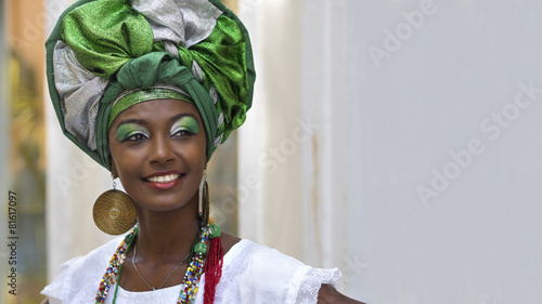 Foto  Brazilian Woman in Traditional Attire, Salvador, Bahia, Brazil