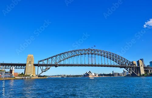 Staande foto Sydney Sydney Skyline and Harbor Bridge
