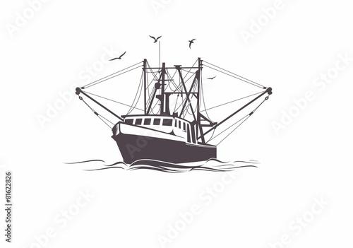 Carta da parati Fishing Boat