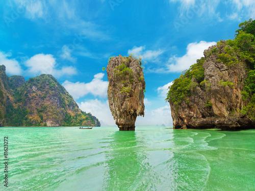 Fotografie, Obraz  James Bond Island (Ko Tapu), Thajsku, Phang Nga Bay, Phuket, Ao