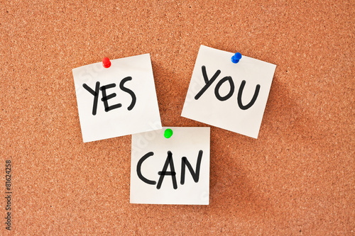Fotografie, Obraz  memo: yes you can