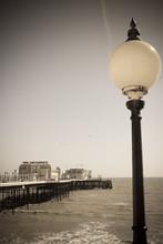 Vintage Seaside Scene