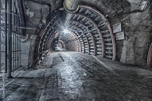 Underground Tunnel in the Mine, HDR Plakát