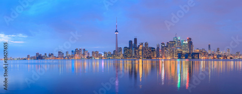 Scenic view at Toronto city waterfront skyline Canvas Print