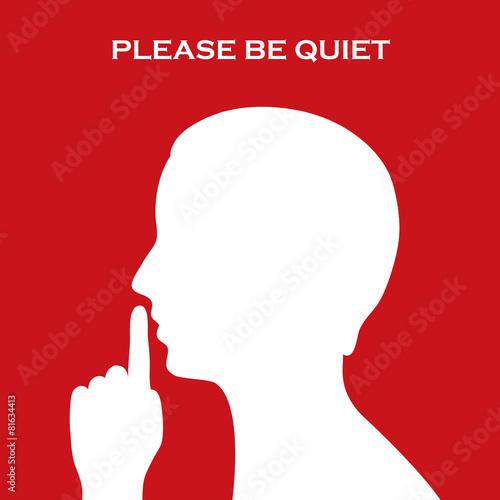 Fotografie, Obraz  Quiet sign