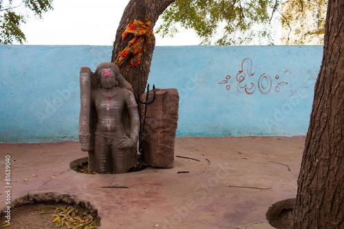Fotografie, Obraz  India, Représentation Hindouiste, village Pattadakal 5642