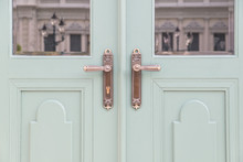 Classic Knobs In Door Use For Background