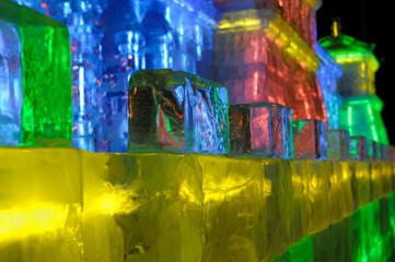 Colorful Ice wall