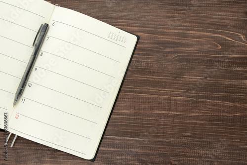 Photo ビジネスイメージ―空欄の手帳