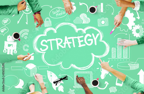 Fotografía  Strategy Online Social Media Networking Marketing Concept