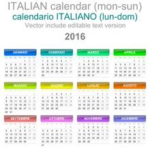 2016 Calendar Italian Language...