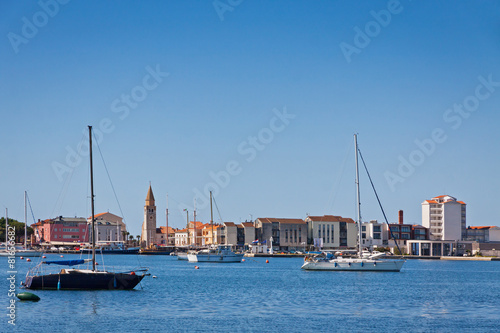 City on the water Sea port of Umag city, Istria, Croatia