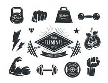 Retro Fitness Elements