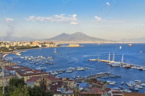 Foto auf AluDibond Neapel Panorama of Naples