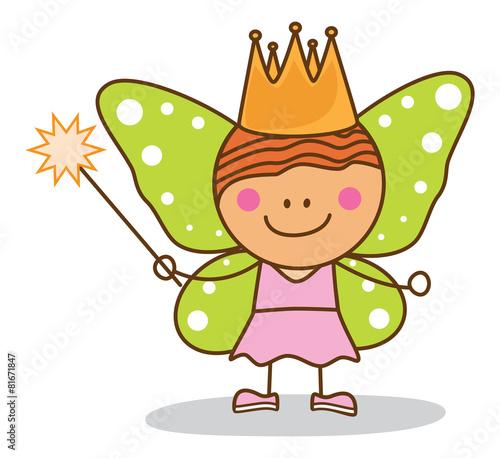 Photo  kid fairy costumed